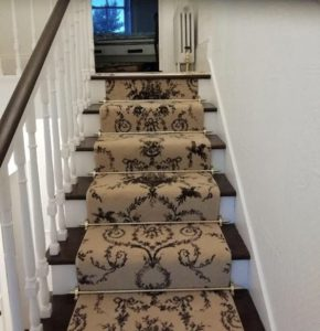 brown stairs carpet