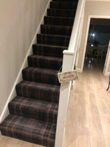 brown carpet and laminate